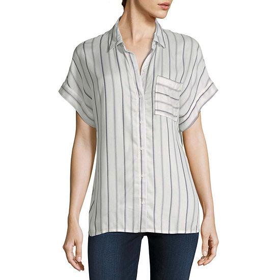 a.n.a Womens Short Sleeve Blouse