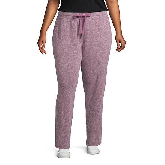 St. John's Bay Active Womens Mid Rise Track Pant-Plus