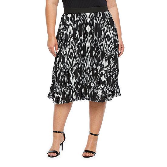 Worthington Womens A-Line Skirt-Plus
