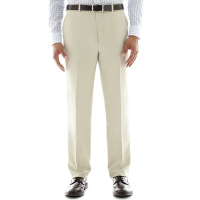 Stafford® Travel Flat Front Microfiber Dress Pants - Classic
