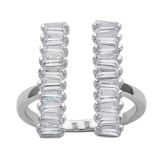 DiamonArt® Sterling Silver Cubic Zirconia Ring