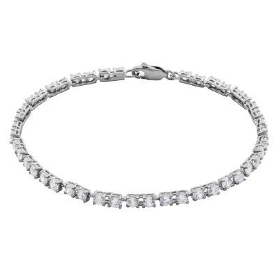 DiamonArt® Cubic Zirconia Sterling SilverTennis Bracelet