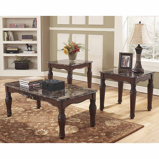 Signature Design By Ashley North Shore Coffee Table Set JCPenney - Signature design by ashley coffee table set