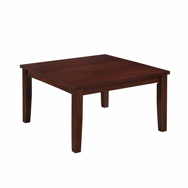 Warm Brown Dining Table with Hidden Extendable Leaf