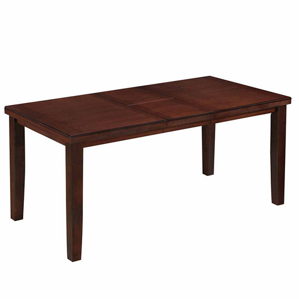 Warm Brown Counter Height Dining Table with HiddenExtendable Leaf