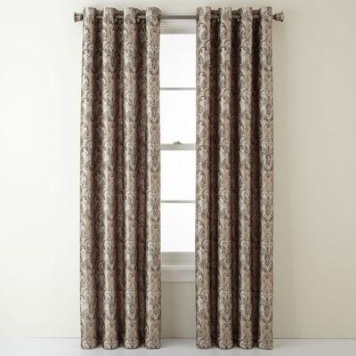 Royal Velvet Blackout Grommet-Top Single Curtain Panel