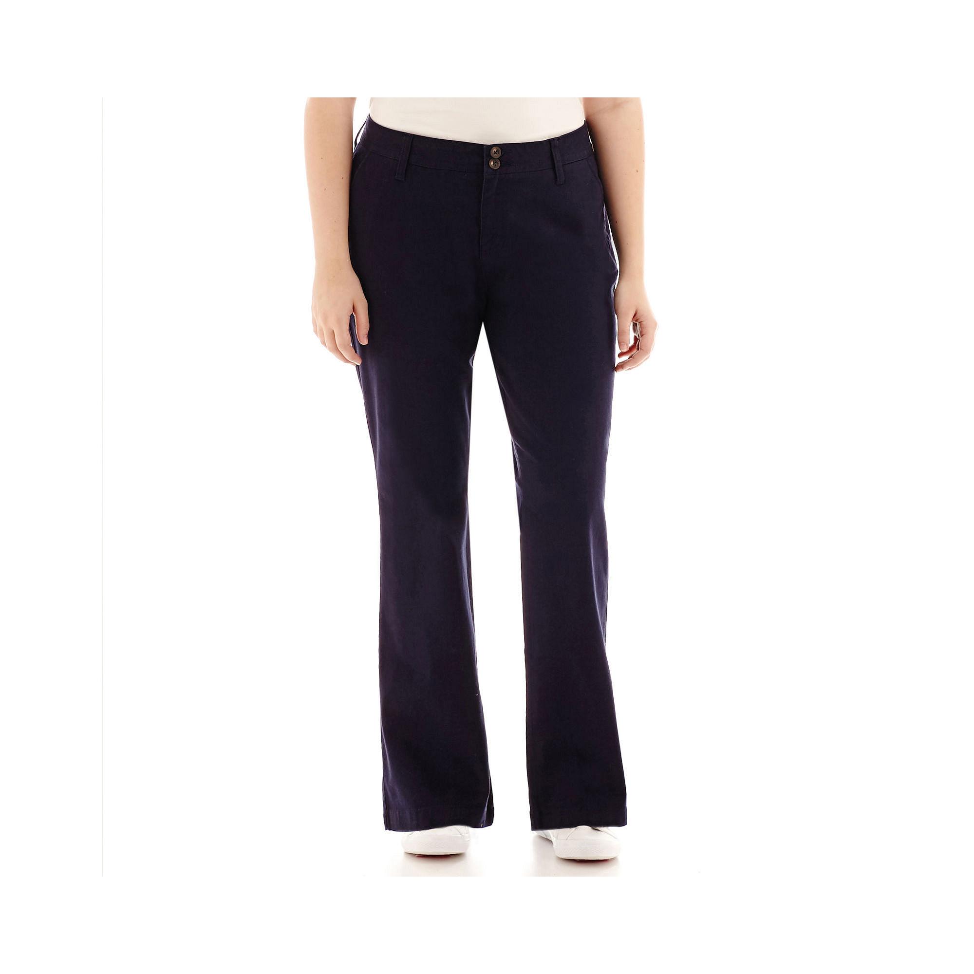 Arizona Schoolgirl Bootcut Pants-Juniors Plus plus size,  plus size fashion plus size appare