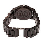 Earth Wood Crown Unisex Adult Automatic Brown Bracelet Watch-Ethew4502
