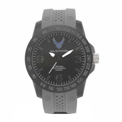 Wrist Armor U.S. Air Force C26 Mens Gray Strap Watch-37300004