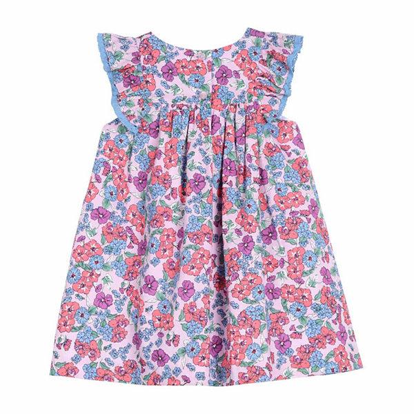 Marmellata Cap Sleeve Floral Print Dress Baby Girls