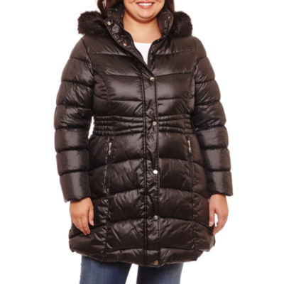 Liz Claiborne Heavyweight Puffer Jacket-Plus