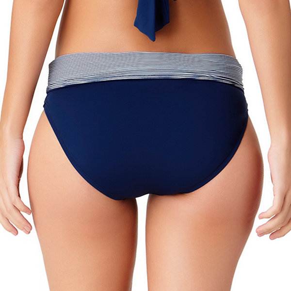 Liz Claiborne Stripe High Waist Swimsuit Bottom