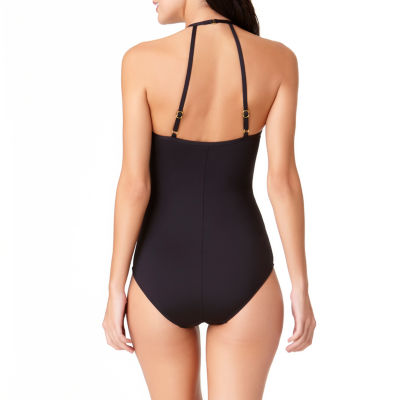 Liz Claiborne Chevron One Piece Swimsuit