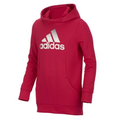 Adidas Logo Performance Fleece Hoodie - Girls' 7-16