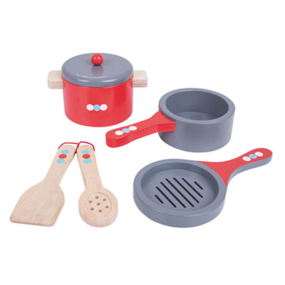 Bigjigs Toys - Wooden Cooking Pans
