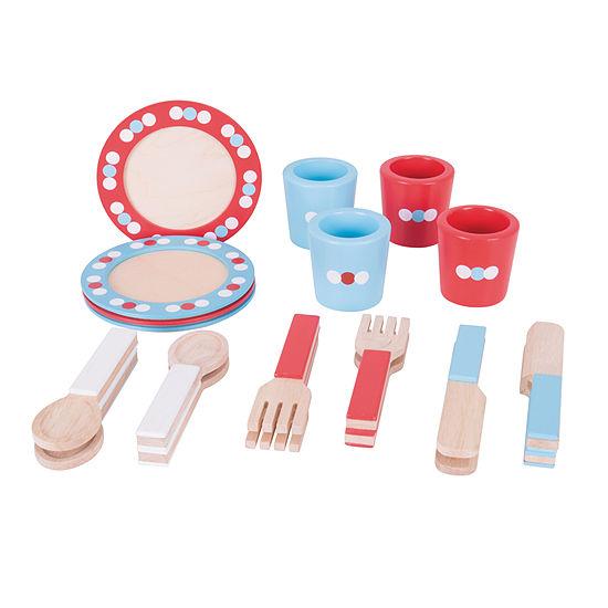 Bigjigs Toys - Wooden Dinner Service