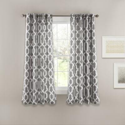 Lush Decor Edward Trellis Room Darkening Curtain Panel