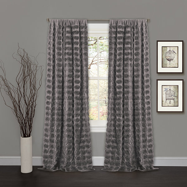 Lush Decor Emma Curtain Panel