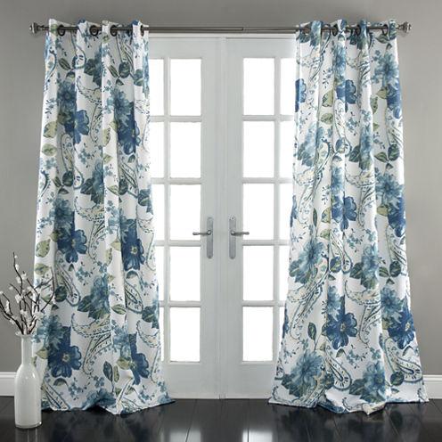 Lush Decor Floral Paisley Room Darkening Curtain Panel