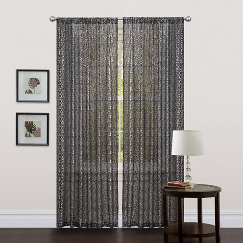 Lush Decor Leopard Curtain Panel