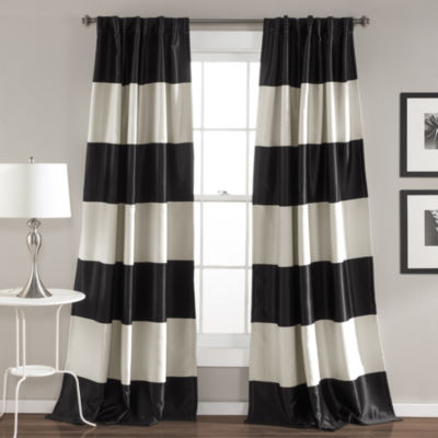 Lush Decor Montego 2-Pack Room Darkening Curtain Panel