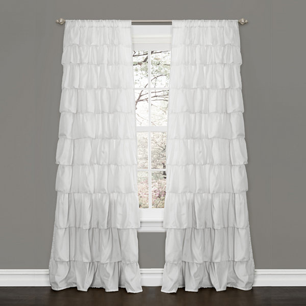 Lush Decor Ruffle Curtain Panel