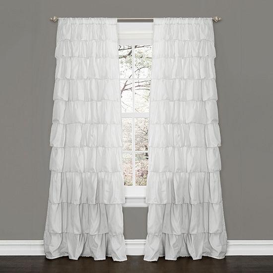 Lush Decor Ruffle Curtain Panel