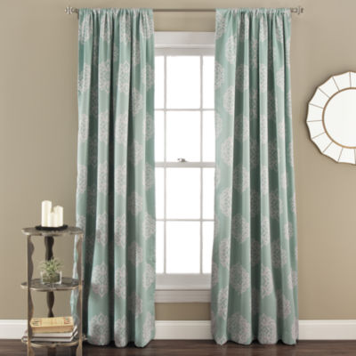 Lush Decor Sophie 2-Pack Room Darkening Curtain Panel