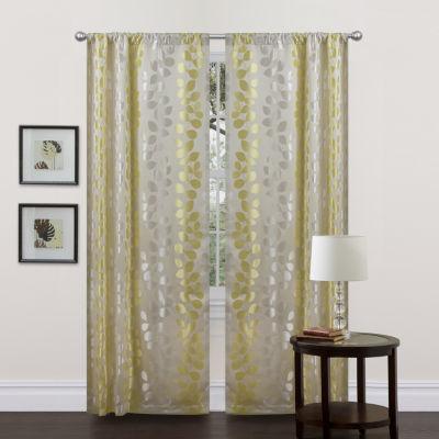 Lush Decor Teardrops 2-Pack Curtain Panel