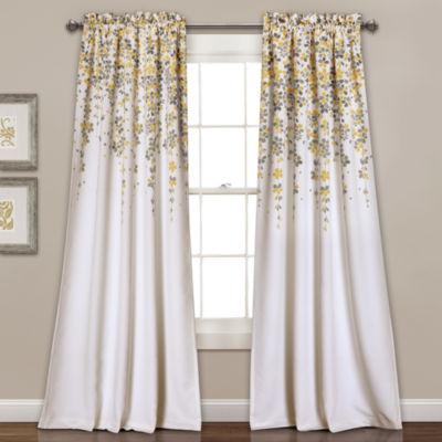Lush Decor Weeping Flowers 2-Pack Room Darkening Curtain Panel