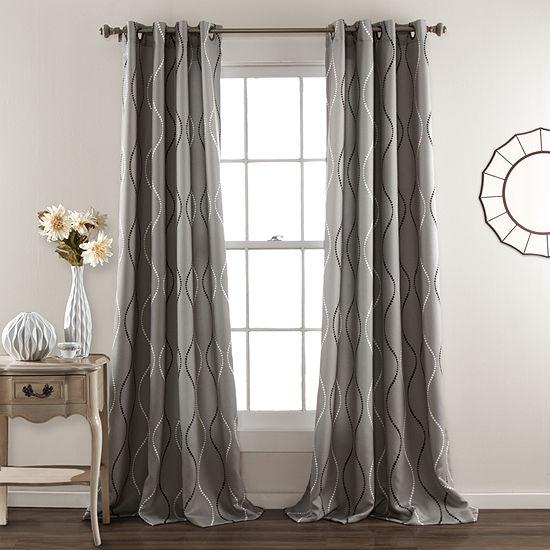Lush Decor Swirl Curtain Panel