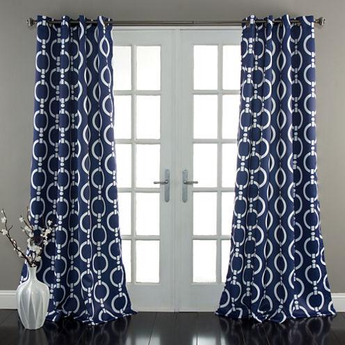 Lush Decor Chainlink Room Darkening Curtain Panel