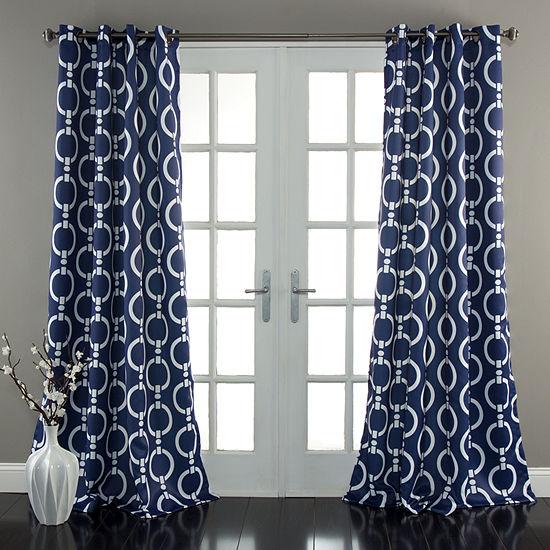Lush Decor Chainlink Curtain Panel