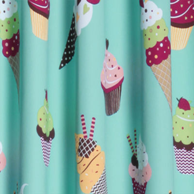 Lush Decor Cupcake Ice Cream 2-Pack Room Darkening Curtain Panel