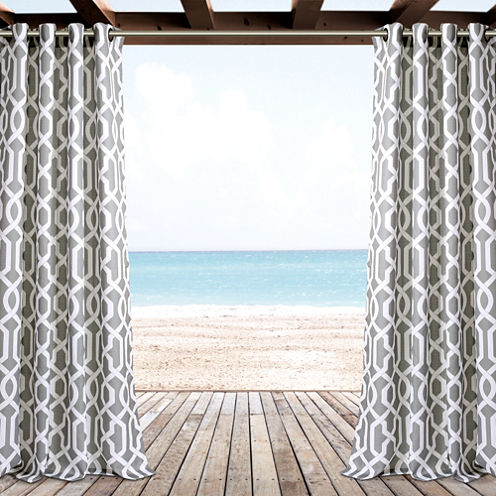 Lush Decor Edward Trellis Curtain Panel