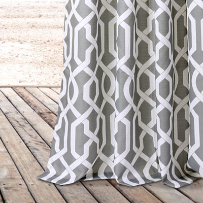 Lush Decor Edward Trellis Curtain Panel