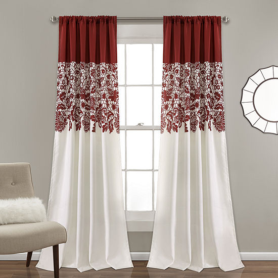 Lush Decor Estate Garden Print Multi-Pack Curtain Panel