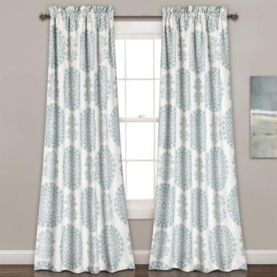 Lush Decor Evelyn Medallion 2-Pack Room Darkening Curtain Panel