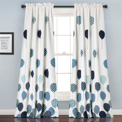 Lush Decor Flying Balloon 2-Pack Room Darkening Curtain Panel