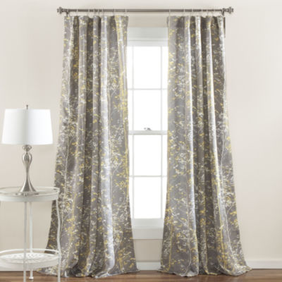 Lush Decor Forest 2-Pack Room Darkening Curtain Panel