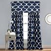 Lush Decor Geo 2-Pack Room Darkening Curtain Panel