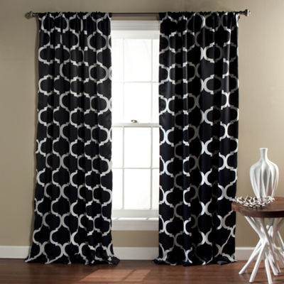 Lush Decor Geo 2-Pack Room Darkening Curtain Panel