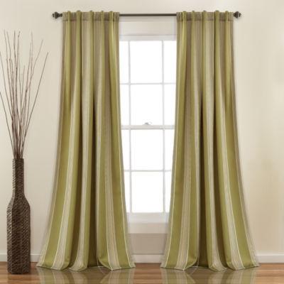 Lush Decor Julia Stripe Multi-Pack Room Darkening Curtain Panel