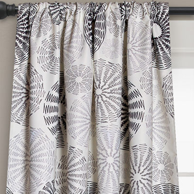 Lush Decor Multi Circles 2-Pack Room Darkening Curtain Panel