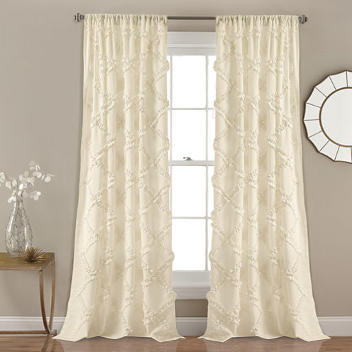 Ruffle Diamond 2-Pack Curtain Panel