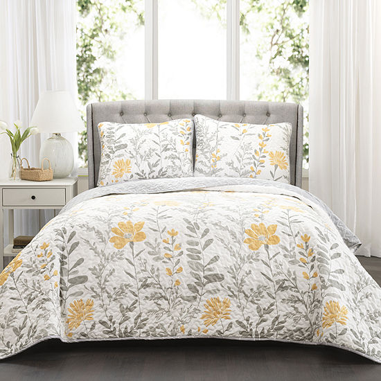 Lush Decor Aprile 3pc Quilt Set