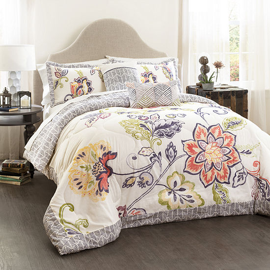 Lush Decor Aster 5pc Quilted Comforter Set