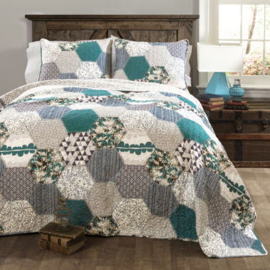 Lush Decor Briley 3pc Quilt Set