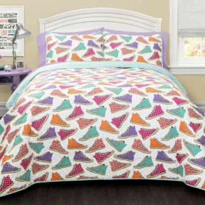 Lush Decor Canvas Shoes 3pc Quilt Set