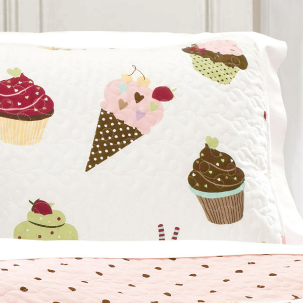 Lush Decor Cupcake Ice Cream 3pc Quilt Set
